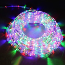 8 Modes Rainbow Tube Fairy String Light Garland Outdoor Garden Copper String Lights 220V For Christmas Festival Party Decoration
