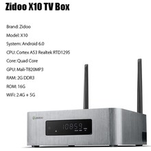 Zidoo x10 Andoid 6.0 Умные телевизоры BOX Dual Системы 4 ядра 2 г/16 г Dual Band WI-FI 1000 м LAN HDR USB 3.0 SATA 3.0 media player(China)