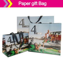 Fancy Ribbon Handle Euro Totes/Premier Laminated Euro Paper Gift and Shopping Totes Rope Handles
