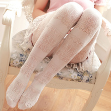 Buy 2018 Spring Summer Hollow Sexy Pantyhose Female Mesh Women Tights Stocking Slim Lace Fishnet Stockings Club Party Hosiery