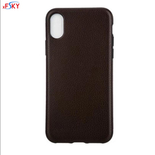 xFSKY New Arrivals Back Case For Apple iphone 8 Cases Black and Brown Leather Pattern Soft Silicone Anti-knock Pritective Cover