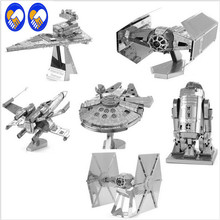 A Toy A Dream STAR WARS XWing Star Fighter Building Kits 3D Scale Models DIY Metallic Nano Puzzle Toys for adult/kids, 1PC PRICE