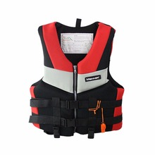 Wholesale Adults Life Jacket Professional Universal Swimming Boating Skiing Drifting Fishing Foam Vest Thickened Life Vest(China)