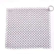 20*15cm Finger Iron Cleaner Stainless Steel Chainmail Scrubber Ringer Cast Iron Chainmail scourer Kitchen Cleaning Tool(China)