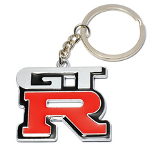 Fashion Metal 3D GTR Car Logo Key Ring Chain Keyring Keychain for Nissan GTR Skyline Kawasaki R32 R34 R351400 Auto Pendant(China)