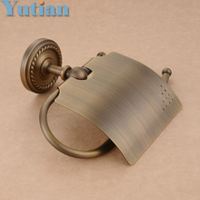 Free Shipping,Antique Brass Finish  Solid Brass toilet paper holder bathroom accessoreis toilet paper holder YT-12292