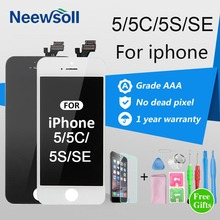 Neewsoll AAA Quality LCD Screen For iPhone 5 5S 5C SE LCD Touch Screen For Iphone 5s Screen Digitizer(China)