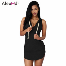 Hot Sale 2017 Ladies Sport Tennis Dress (6 Colors) Cotton Sweat Sleeveless Hoodie Dress LC22654 Ropa Deportes Tenis Mujeres
