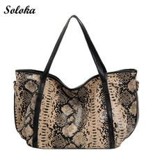2017 New Women Handbag Genuine PU Tote Bag Female Classic Serpentine Prints Leopard Shoulder Bag Ladies Handbags Messenger Bag