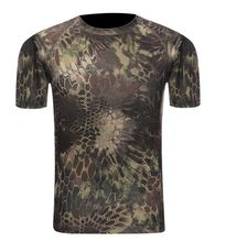 Camouflage Shirt Quick Dry Breathable Tights Army Tactical T-shirt Mens Compression T Shirt Fitness Summer Bodybulding(China)