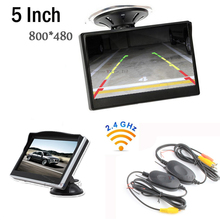 2.4G Wireless 5 Inch Car Monitor TFT LCD Digital Display Screen Vehicle Monitor Transmitter Receiver Support for Rearview camera(China)