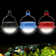 16 LED Portable Lanterns Magnet LED Light Tent Lamp with Hook Night Light for Emergency Household Camping Hiking Blue Red Black
