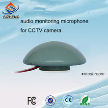 mushroom CCTV audio monitor sound pickup listening voice security ip camera microphone