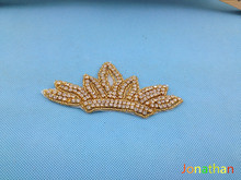 2015Free shipping,Rhinestone applique,couture crystal applique,wedding applique,beaded patch for wedding sash,bridal accessory,