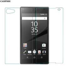 CARPRIE Front+Back Tempered Glass Film Screen Protector For Sony Xperia Z5 Compact Protective Replacement Men Women