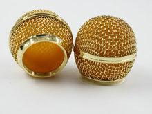 New Replacement Gold Plated Mesh Ball Head Mesh Microphone Grille for SM58 BETA58(China)