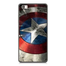 Marvel Captain America Design Hard Plastic Case Cover For Sony Z1 Z2 Z3 mini Z4 Z5 M2 T3 For Huawei P6 P7 P8 P8Lite P9 Lite G7
