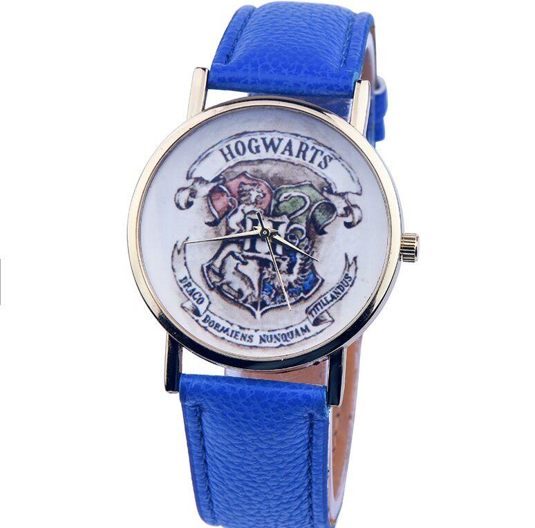 2016 New Harry Potter Hogwarts School Design Magic School Watch, Hogwarts Magic Pattern Badges Leather Watch Unisex Watch<br><br>Aliexpress