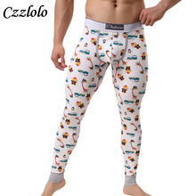 Czzlolo 2017 winter Men's warm Long Johns Thermal underwear Pants sexy low waist Cotton Trousers Solid Color Underwear(China)
