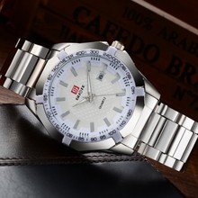 Mens Watches China Brand Best Fashion Business Quartz Watch Men Stainless Steel Clock Auto Date Waterproof Relogio Masculino(China)
