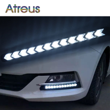 Atreus Car LED Day Lights For Audi a4 b6 a3 Infiniti BMW e46 e39 VW polo accessories 1Pair DRL fog lamp Yellow Turn Signals 12V(China)