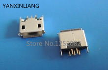 10pcs Micro Mini USB Type AB Female 5 Pin DIP Socket Connector Straight legs(China)