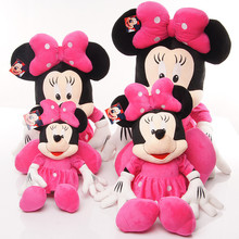 1 Piece 45cm Lovely Mickey Red/Pink y Minnie Mouse  Stuffed Animals Plush Toys For Children's Gift