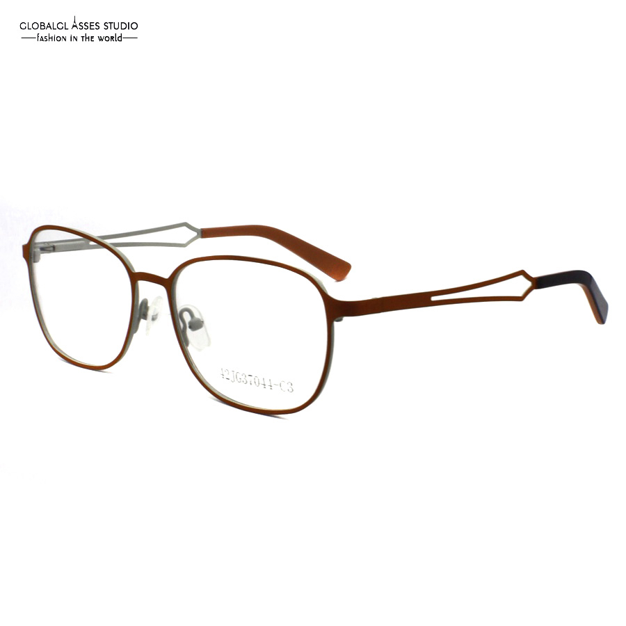 Very high quality Orange Color Women Hollow used clean lens Glasses Frame/Eyeglasses/Optical frames 42JG37044-C3(China)