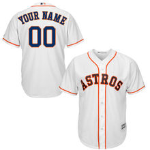MLB Youth Houston Astros Baseball White Home Custom Cool Base Jersey(China)