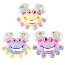 2017 New Plastic Crab Toy Jingle Baby Kid Infant Musical Educational Shaking Rattle Handbell Bebek Oyuncak Lowest Price ##520(China)