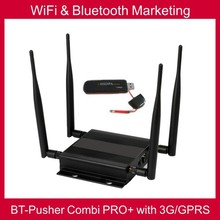 Bluetooth &WiFi marketing BT-Pusher COMBI PRO+ with 3G/GPRS,car charger,4800maH battery(native advertising content system)