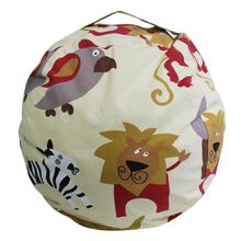 Creative Large capacity Modern Printed Cartoon Storage Organizer Bean Bag Chair Portable Kids Toy Storage Bag & Play Mat Clothes