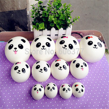 Squishy Cartoon Panda Kawaii Wholesale Squishies Slow Rising Jumbo L M S Sizes Mobile Phone Charm Straps Squeeze Toys For Kids(China)
