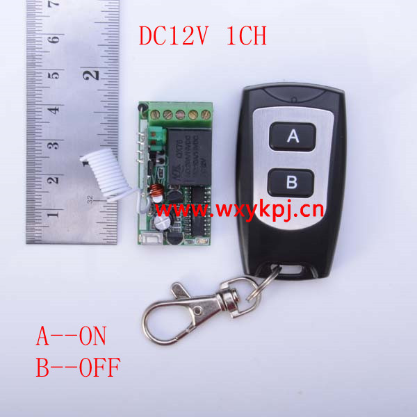 Wireless z-wave 1CH mini size Remote Control Switch DC 12V RF Transmitter and Receiver with learning code<br><br>Aliexpress
