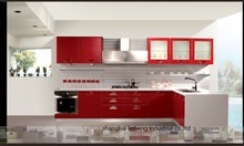 High gloss/lacquer kitchen cabinet mordern(LH-LA019)