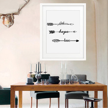 HAOCHU Modern Nordic Black White Arrow Canvas Painting Life Inspiration Words Art Poster Kids Nursery Room Wall Pictures Decor