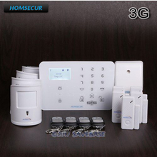HOMSECUR Wireless WCDMA-3G/GSM Home Security Alarm System With 4 Pet-Immune PIR(China)