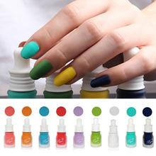 1PC Professional Cute Bottle 10ml Nail Art Makeup Cosmetics 12 Colors Pigments Stamping Print Pink White Matte Nail Polish