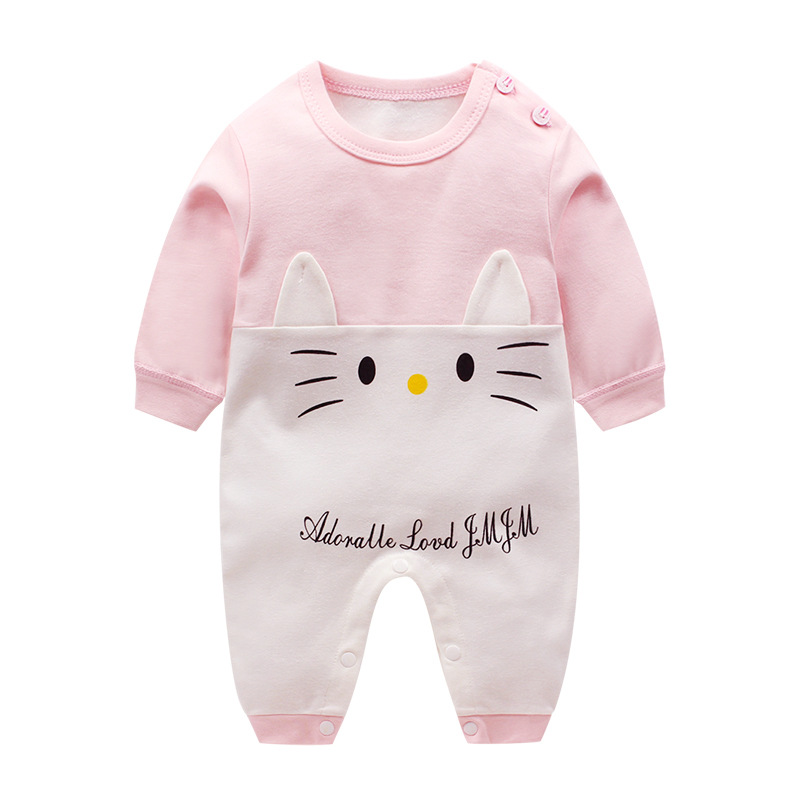 Baby Rompers Cotton 100% Infant Toddler Cartoon Long Sleeve Jumpsuit Newborn Baby girls boys Clothing 0-12M baby clothes