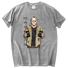 NEW Jason Voorhees Freitag der 13th Maske men T-Shirt Freddy Horror Kult 100% cotton Short Sleeve male T shirt(China)