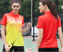 women badminton shirts lady table tennis shirts girls ping-pong ball tops sportswear women sports game tops free shipping
