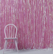 Iridescent Foil Fringe Curtain Decoration, Shimmer Curtain, Photo Booth Backdrop