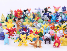 144pcs Pikachu go Pokeball figures mini Random Cartoon Anime Pocket Mixed Orders Action Figure PVC toys Collection figures