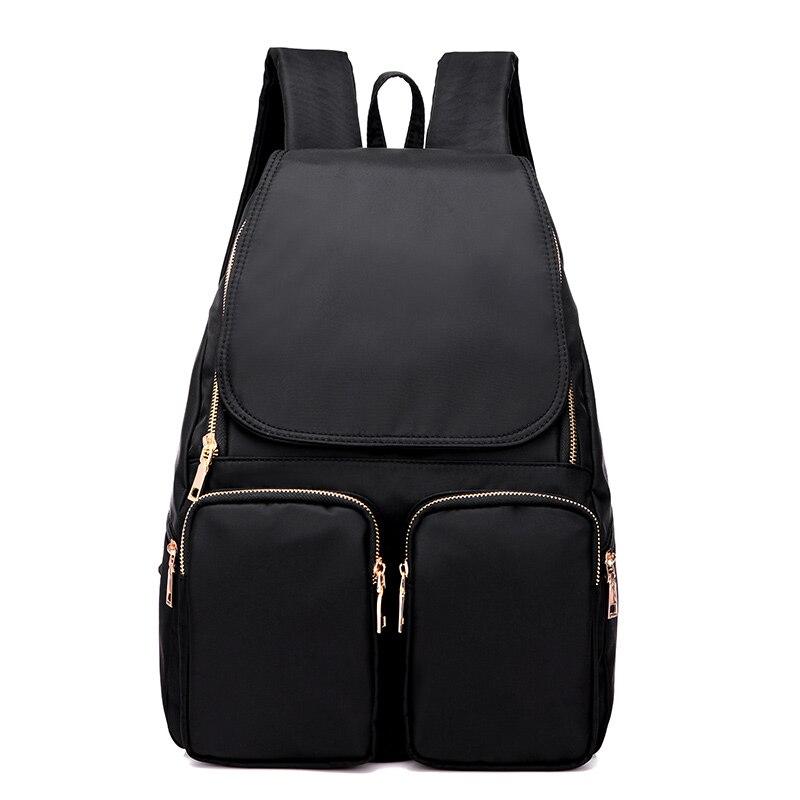 Women Nylon Leisure backpack Purple Blue Black Waterproof Girls School Bags<br><br>Aliexpress