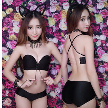 Women Seamless Bra Set Backless Underwear Bandage Strapless Multi Wear Invisible Blade Strapless Tape Sexy Push Up Bras