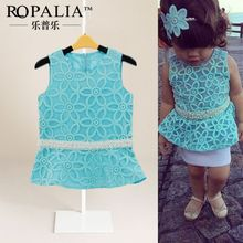 2-7 Kids Baby Girls Floral Pearl Mini Dress One PC Vest Top Casual Clothes