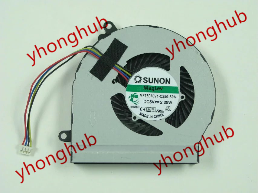 Free shipping For SUNON MF75070V1-C250-S9A DC 5V 2.25W 4-wire 4-pin connector Bare Fan<br>