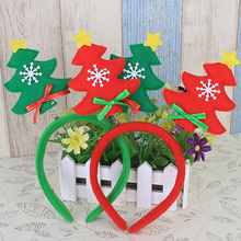 HENGHOME 1Pcs Xmas Tree Headwear New Year Party Christmas Hair Hoop Adults Children Christmas Tree Headband Accessories