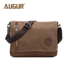 HOT! AUGUR Brand New Fashion High Quality Canvas Leisure Korean Student Bag shoulder School bags Men Messenger Bag Manufacturers