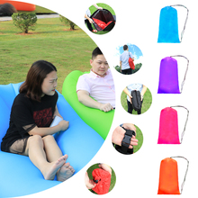 Fast Inflatable Air Sofa Camping Banana Air Sleeping Bag  Air Bed Chair Portable Couch Hangout Lazy Laybag Inflatable